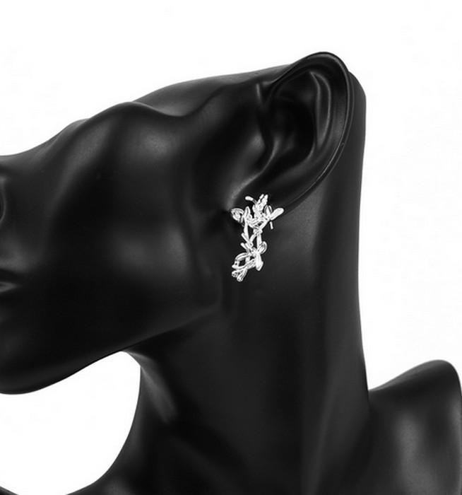 Körsbärsblomma Silver Örhänge