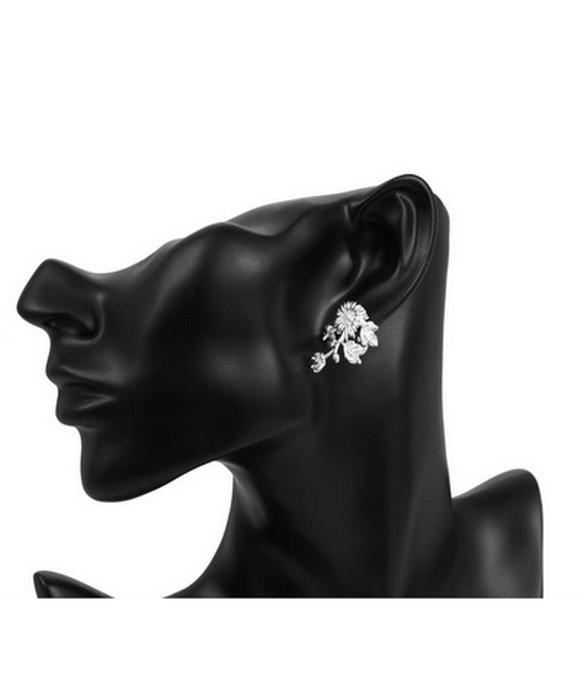 Krysantemum Silver Örhänge