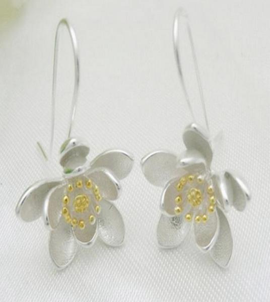 Lotus Blom Silver Örhänge