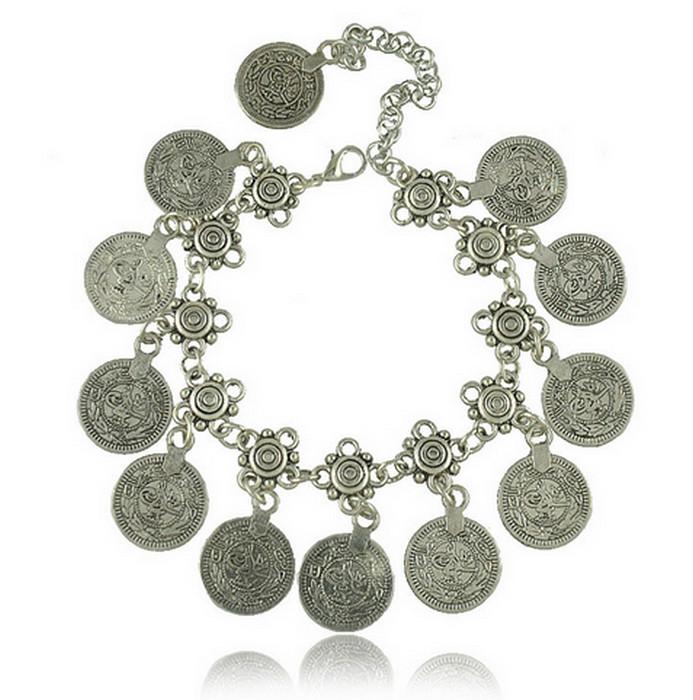 Gypsy Mynt Snideri Vintage Antique Silver Armband