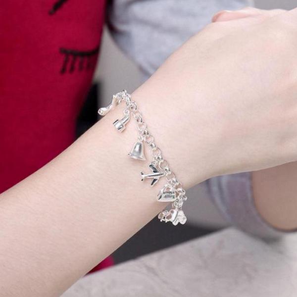 Silver 12 Hängsmycken Skönhet Armband