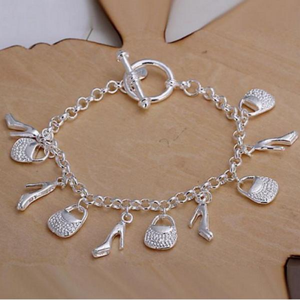 Silver 10 Hängsmycken Skönhet Armband