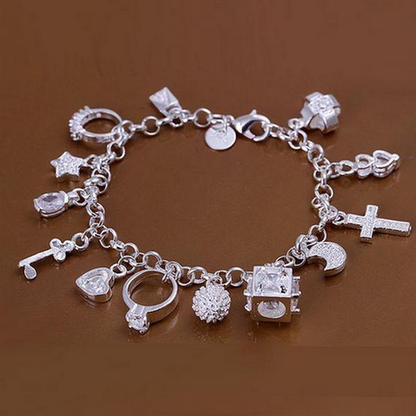 Silver 13 Hängsmycken Skönhet Armband