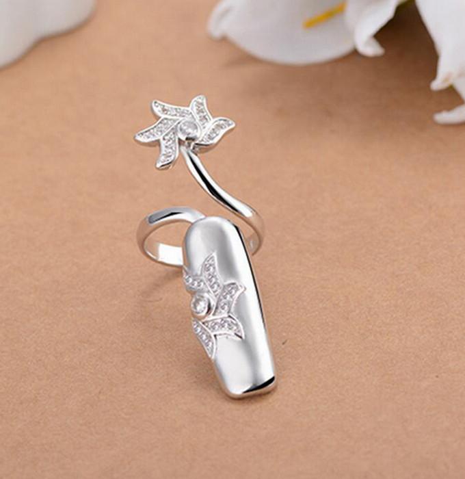 Stjärna Finger Nagel Ring