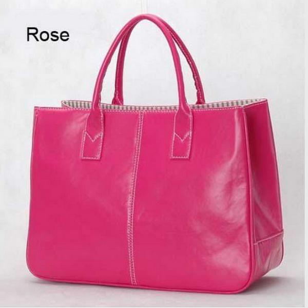 Cerise Faux Läder Handväska