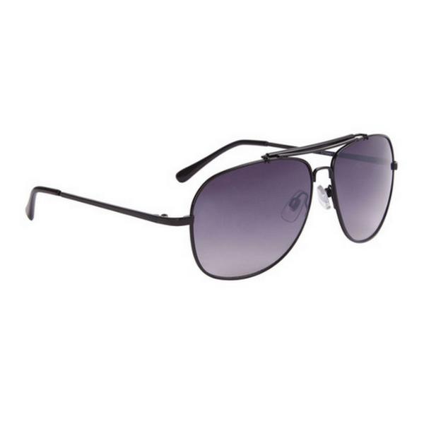 Svarta med svarta tips aviator solglasögon