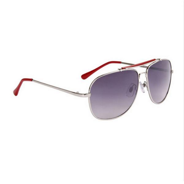Silver med röda tips aviator solglasögon