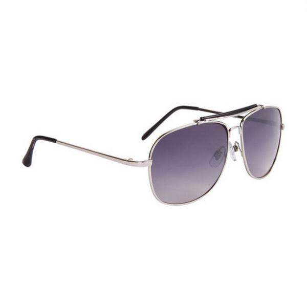 Silver med svarta tips aviator solglasögon