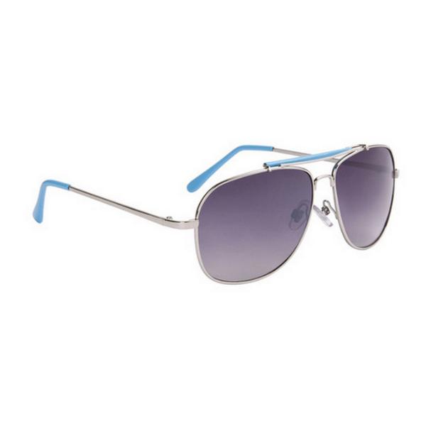 Silver med blåa tips aviator solglasögon