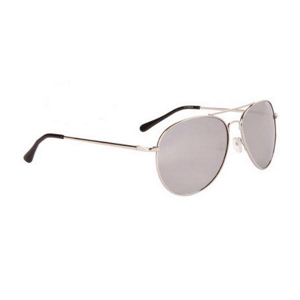 Silver mirror aviator solglasögon