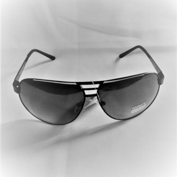 Svarta vita dekor metal aviator solglasögon