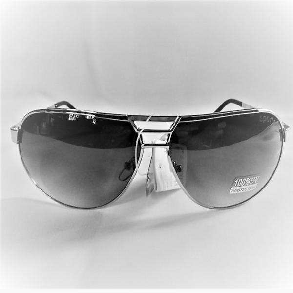 Svarta silver metal aviator solglasögon