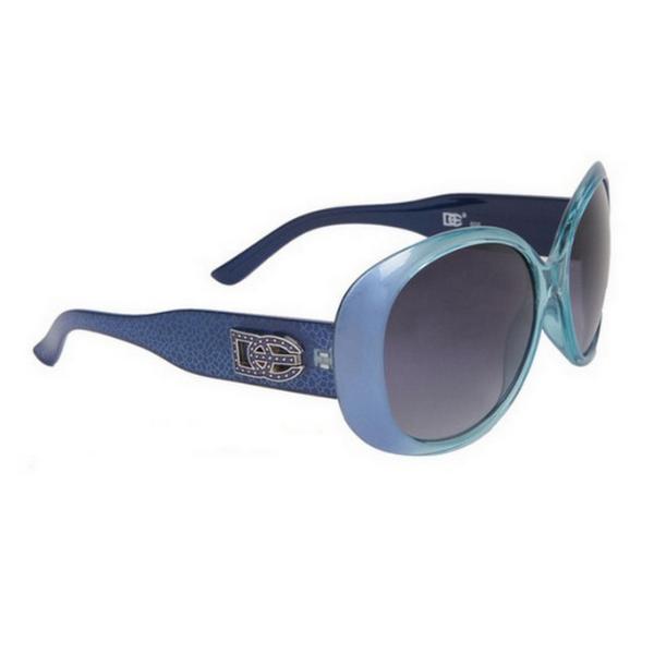 Blåa DE designer solglasögon