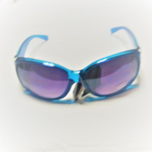 Blåa diamond eye rhinestone solglasögon