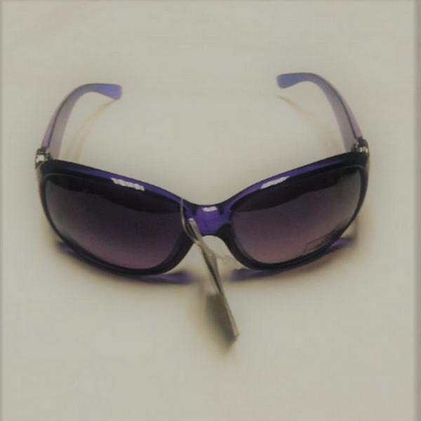 Lila diamond eye rhinestone solglasögon