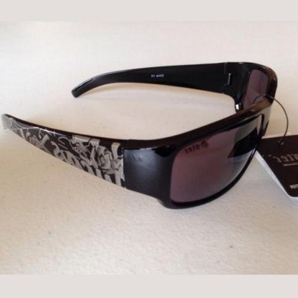 Svarta silver graffiti Gangster solglasögon