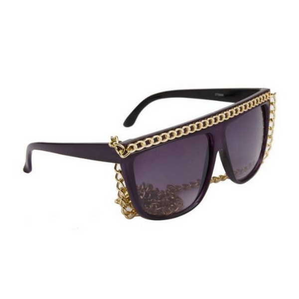 Lila Lady Gaga inspirerade solglasögon