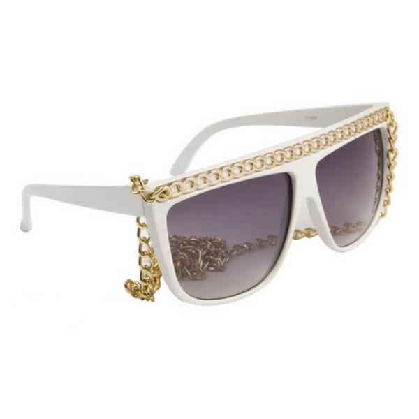 Vita Lady Gaga inspirerade solglasögon