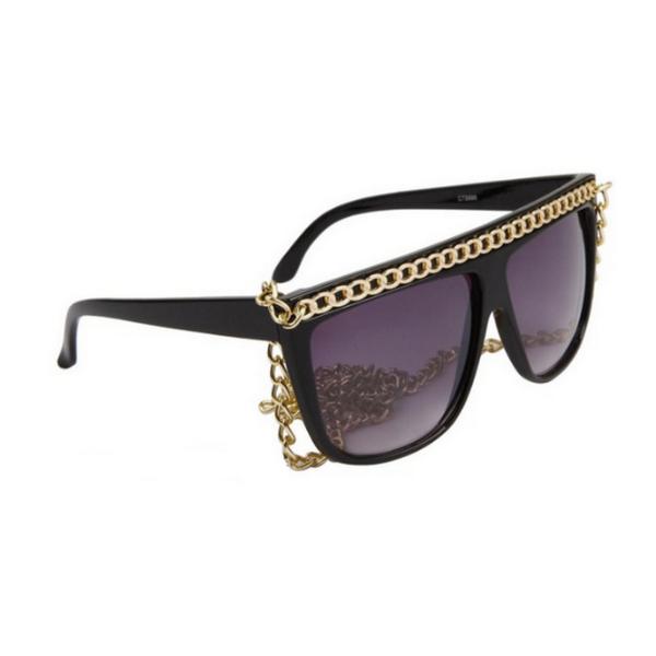 Svarta Lady Gaga inspirerade solglasögon