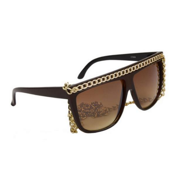 Bruna Lady Gaga inspirerade solglasögon