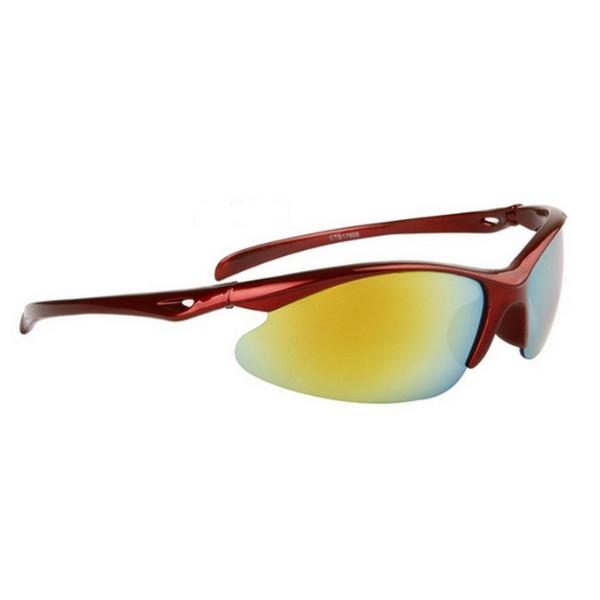 Röda gula cykling sport solglasögon