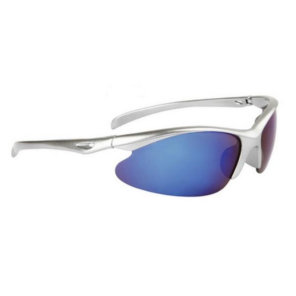 Silver blåa cykling sport solglasögon