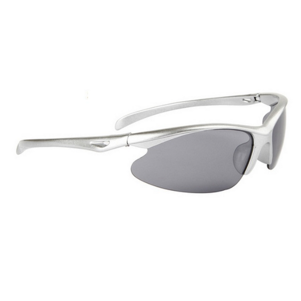 Silver svarta cykling sport solglasögon