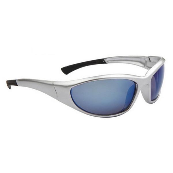 Silver Blåa Lens Sport stil solglasögon