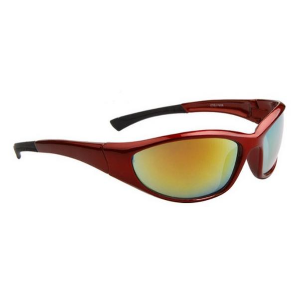 Vinröda Gula Lens Sport stil solglasögon