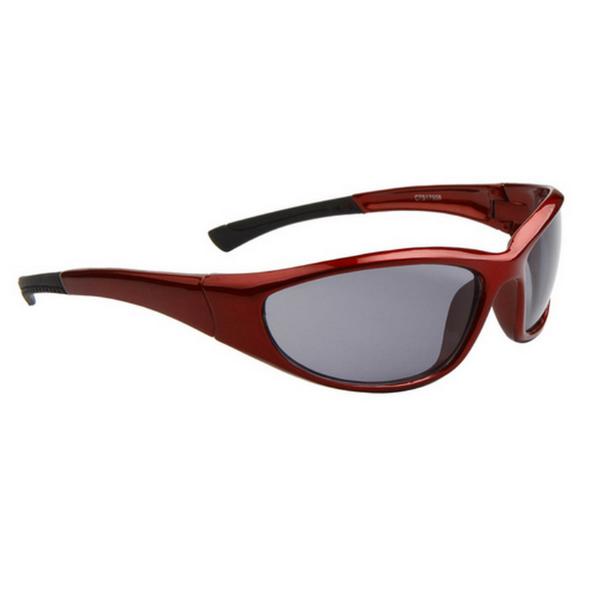 Vinröda Svarta Lens Sport stil solglasögon