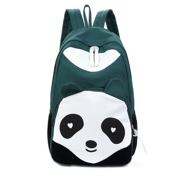 Gröna Vita Panda Ryggsäck