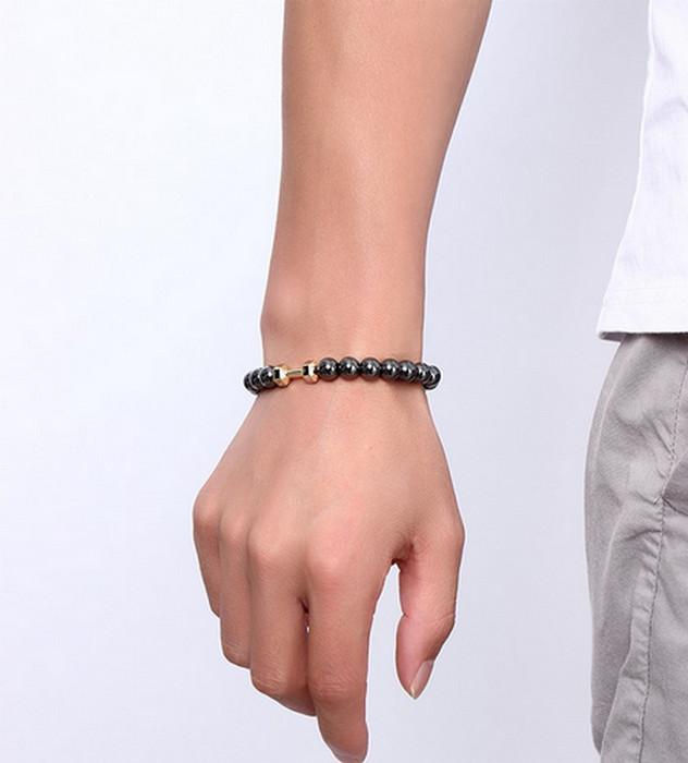 Svarta Hematit Armband med Magnet och Hälso effekt