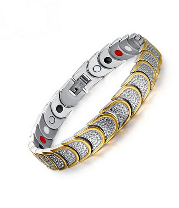 Gulden steel Armband med Magnet