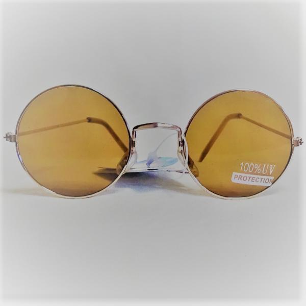 Golden ram golden lins John Lennon inspirerade Solglasögon