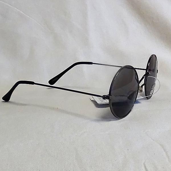Silver ram svarta lins John Lennon inspirerade Solglasögon