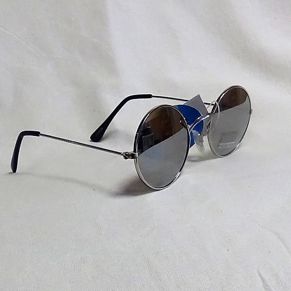 Silver ram skugga lins John Lennon inspirerade Solglasögon