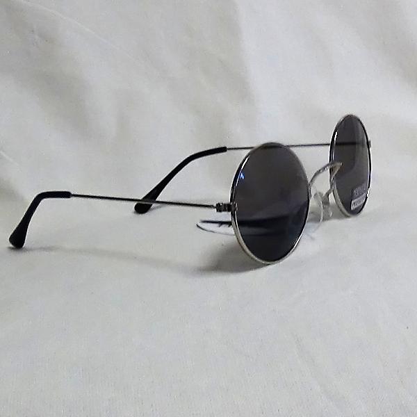 Gråa ram svarta lins John Lennon inspirerade Solglasögon
