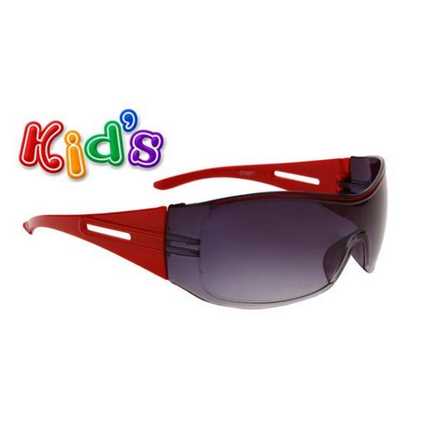 Röda armar svarta lins barn solglasögon