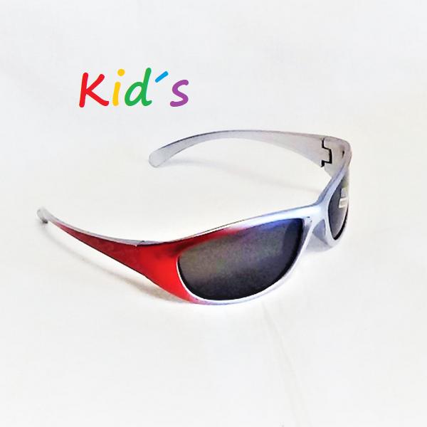 Röda silver armar svarta lins barn solglasögon
