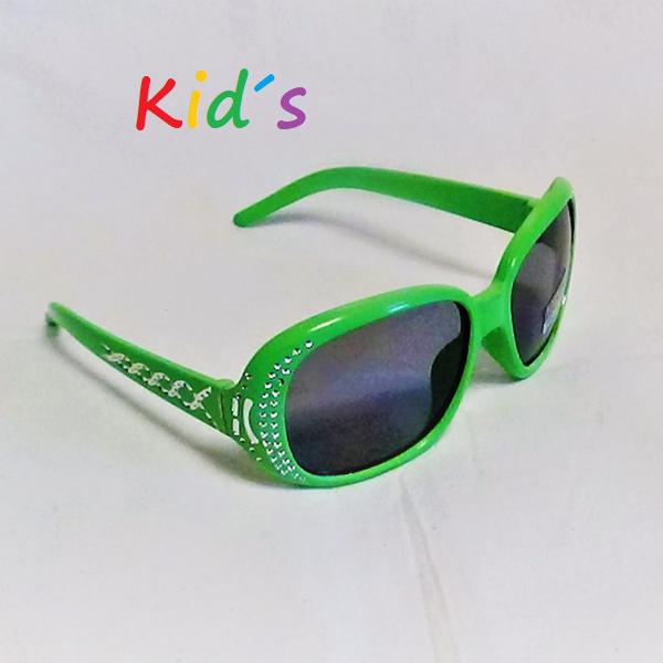 Ljusgröna med glitter svarta lins barn solglasögon