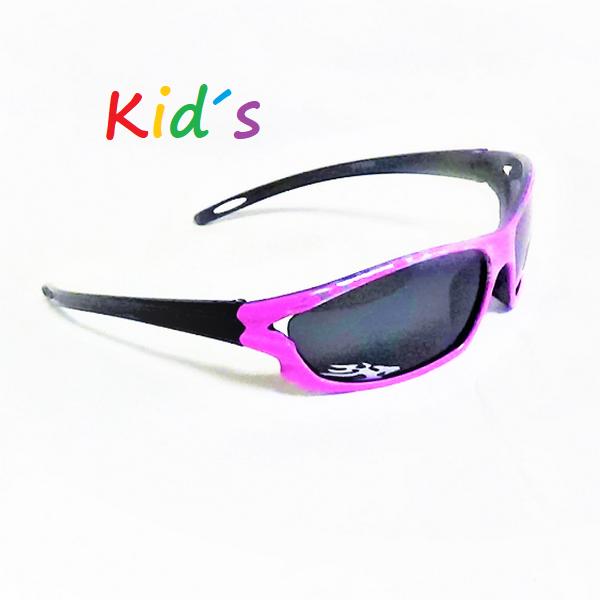 Svarta rosa ram svarta lins barn solglasögon