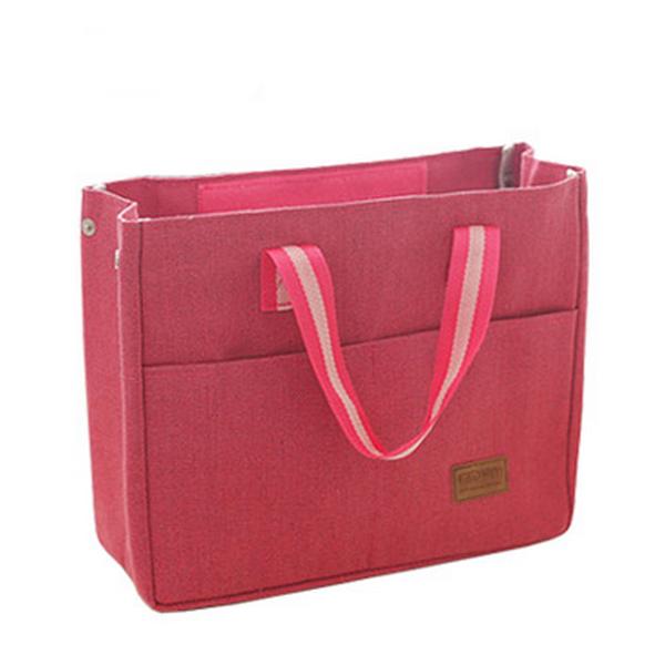 Röda kyl isolerad lunch väska