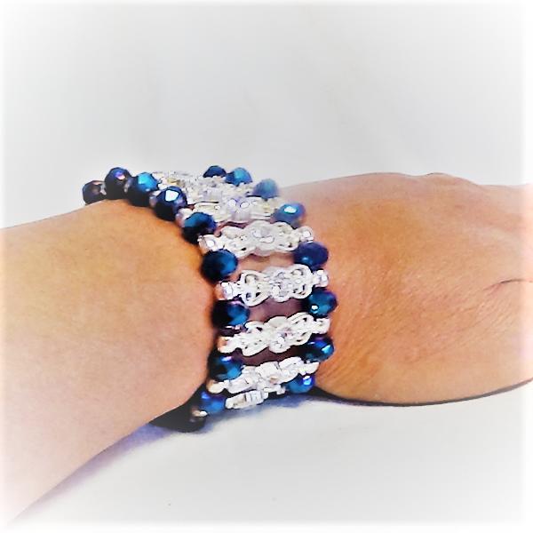 Blåa kristallArmband