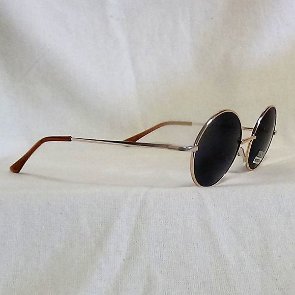 Golden ram svarta lins John Lennon inspirerade Solglasögon
