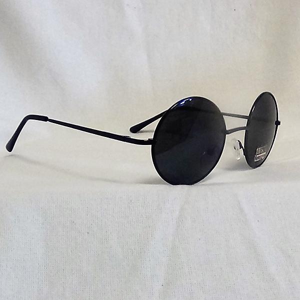 Svarta ram svarta lins John Lennon inspirerade Solglasögon