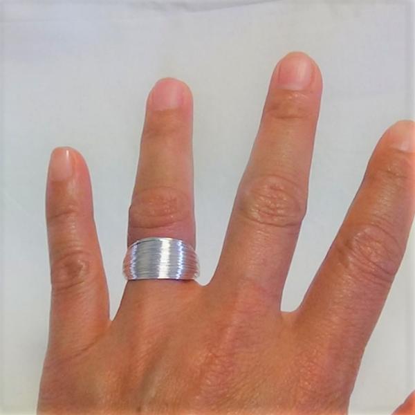 Justerbara silver trassel stil ring