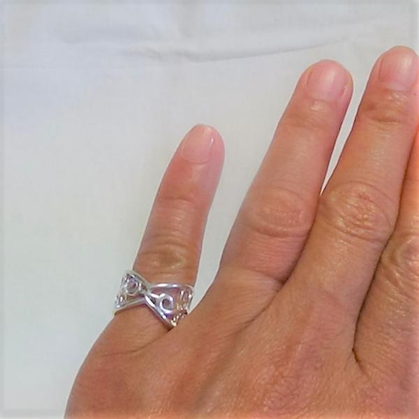 Justerbara silver lillfinger ring