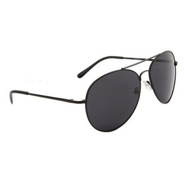 Svarta smoke lens aviator solglasögon