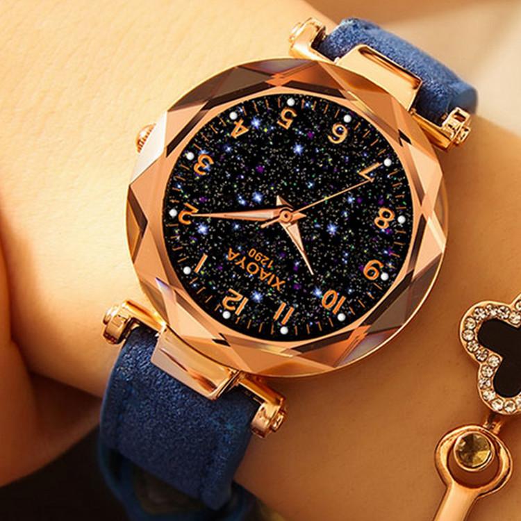 Blå Starry Sky Klocka