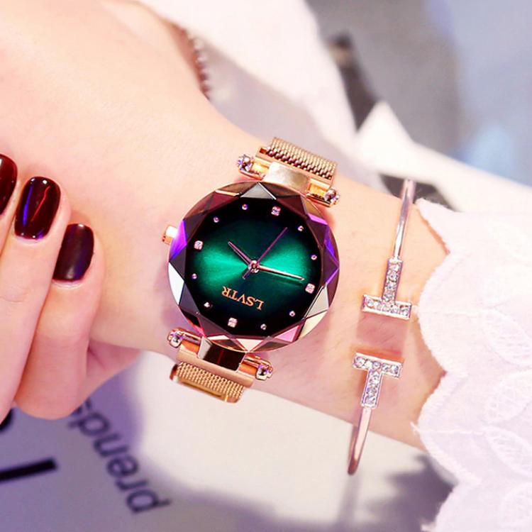 Grön Luxury Magnetklocka
